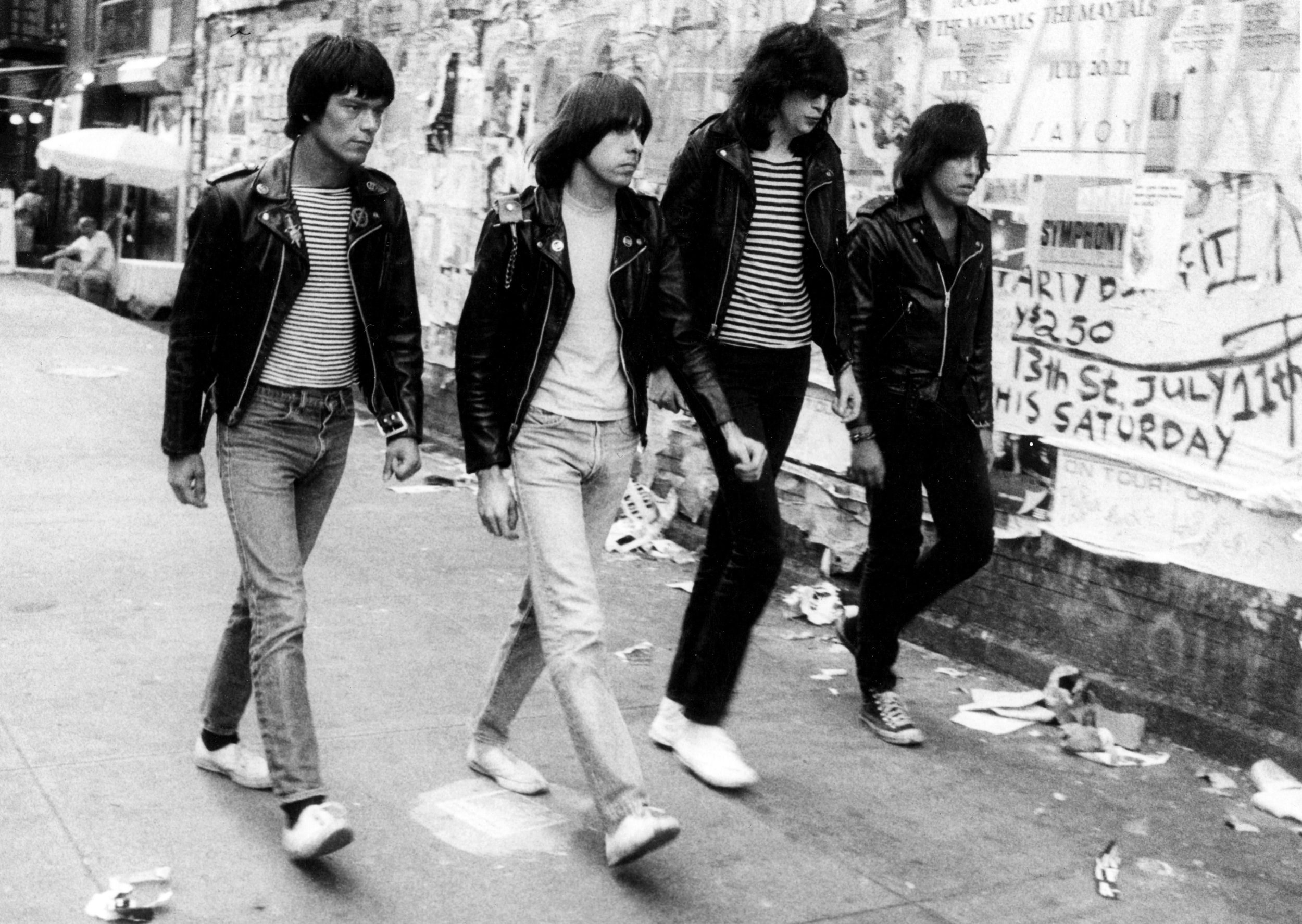 Ramones on St. Mark's Place, 1981
