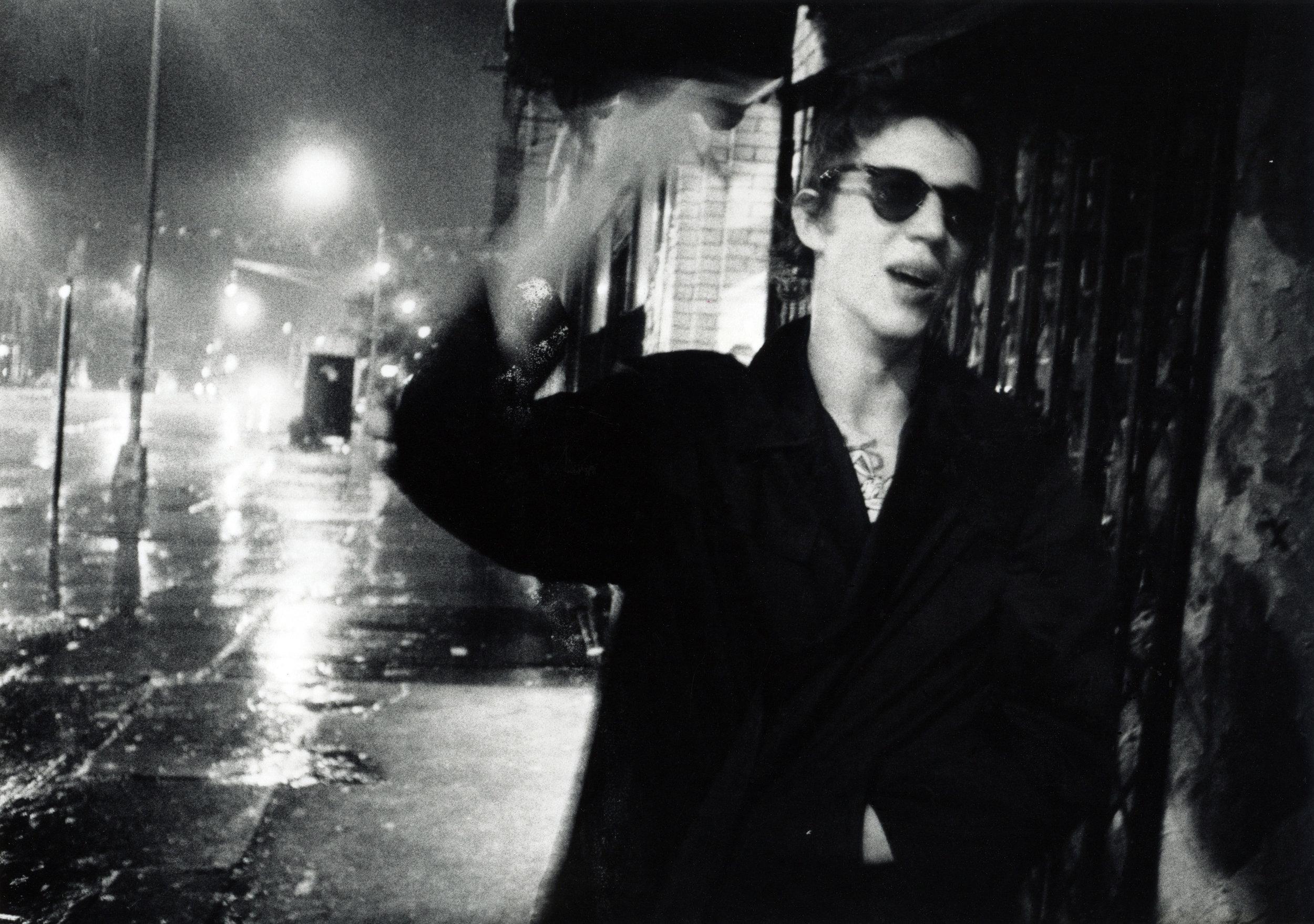 Richard Hell, Bowery Rainstorm, 1977