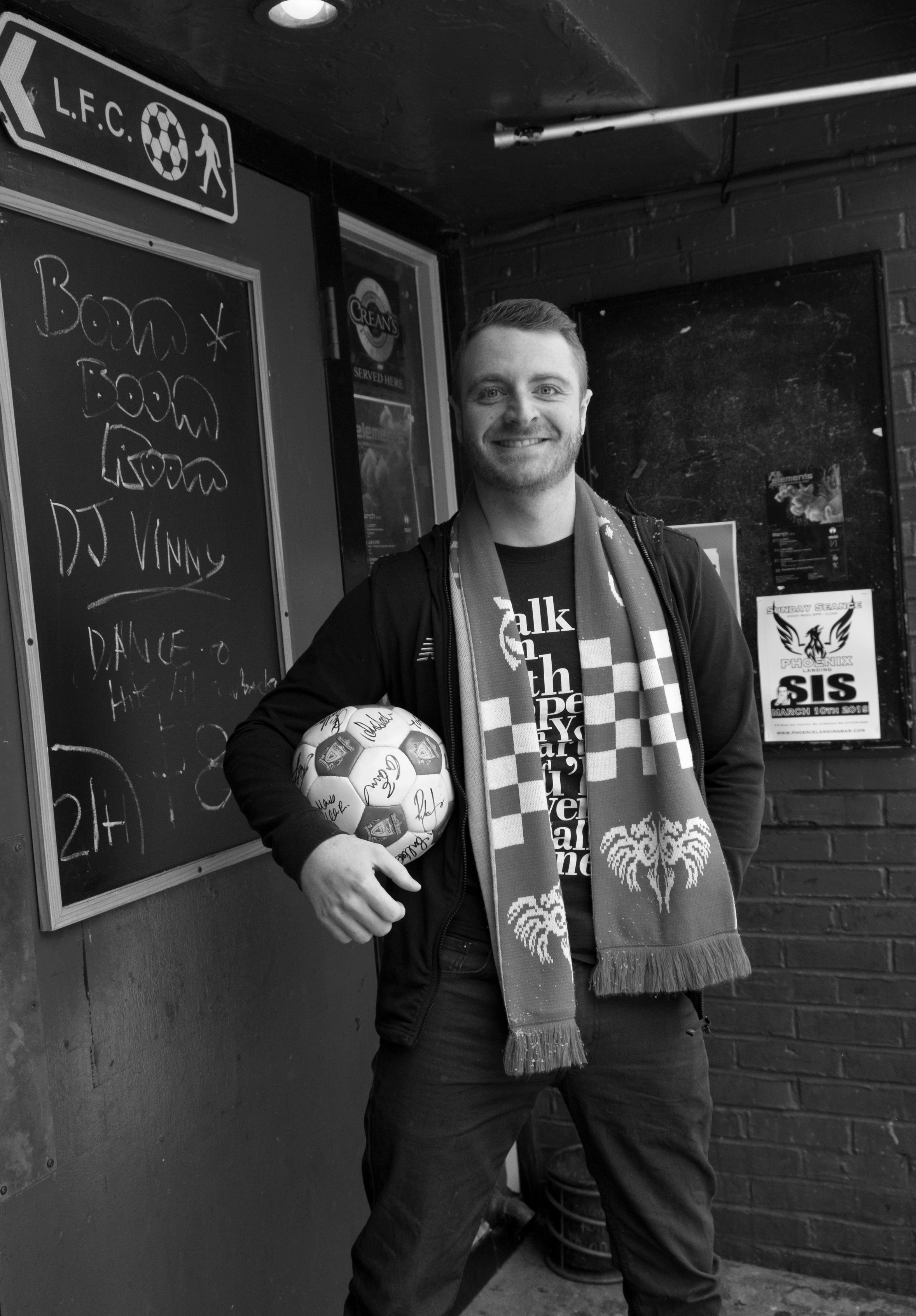 Liverpoolian expat Rob Glover at The Phoenix Landing