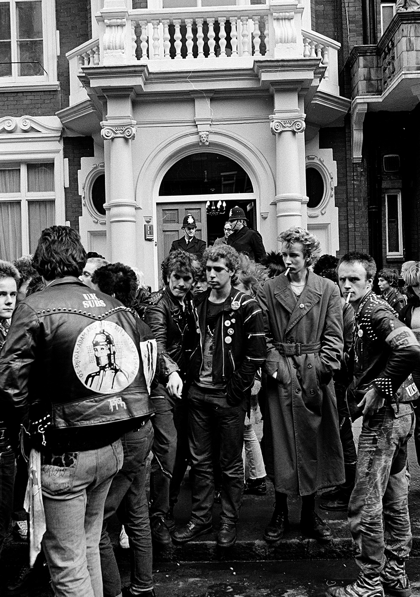 Sid Vicious memorial march by Janette Beckman courtesy of Fahey/Klein
