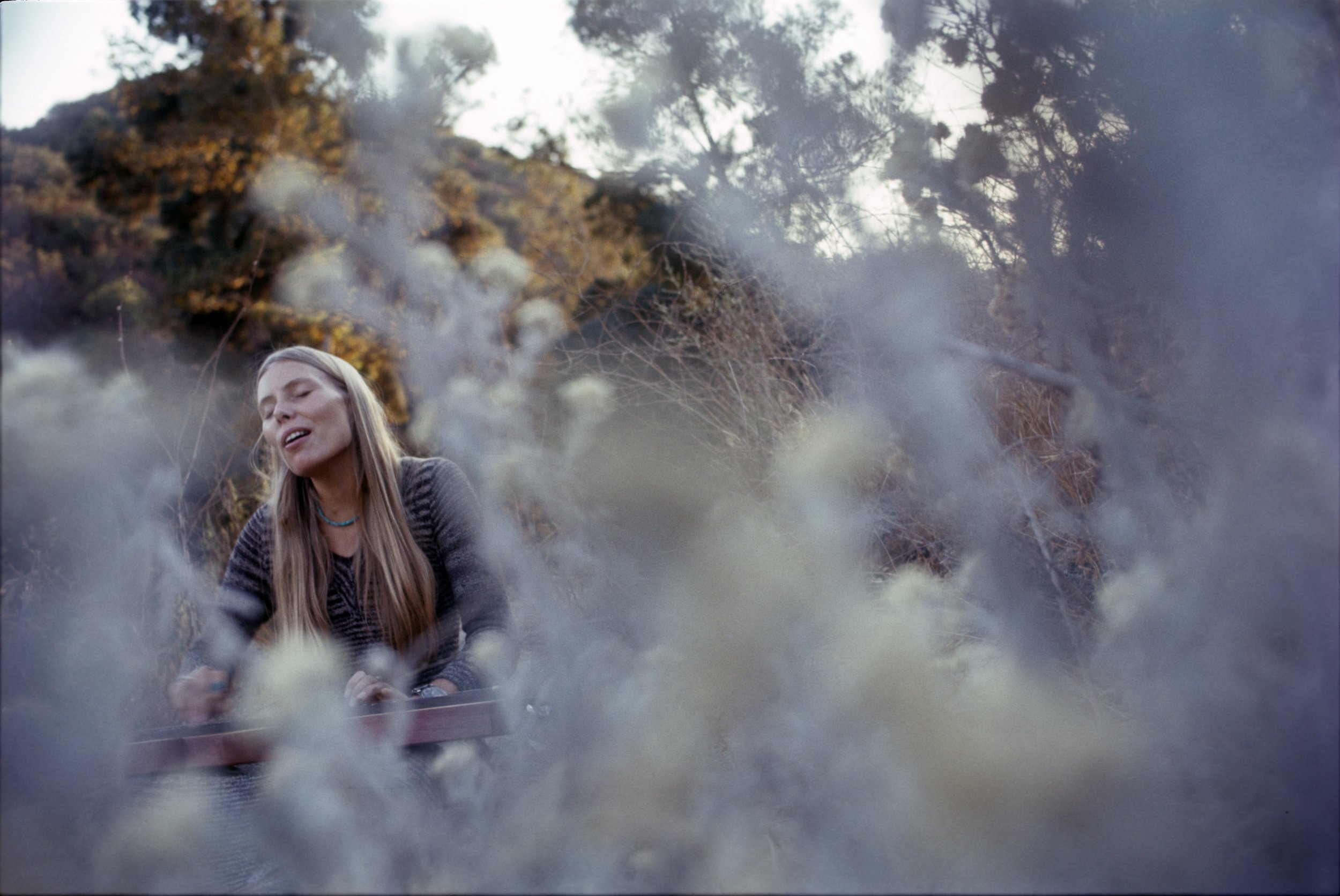 Joni Mitchell, Hills of Laurel Canyon, 1970 by Henry Diltz