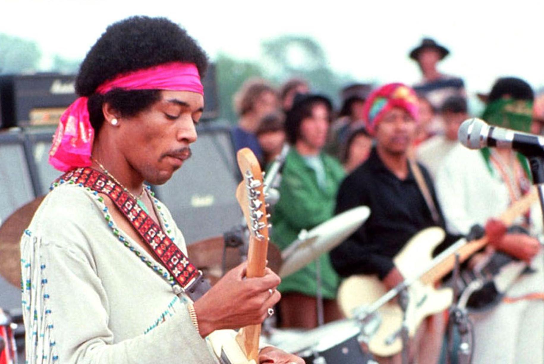 Jimi Hendrix, Woodstock, 1969 by Henry Diltz