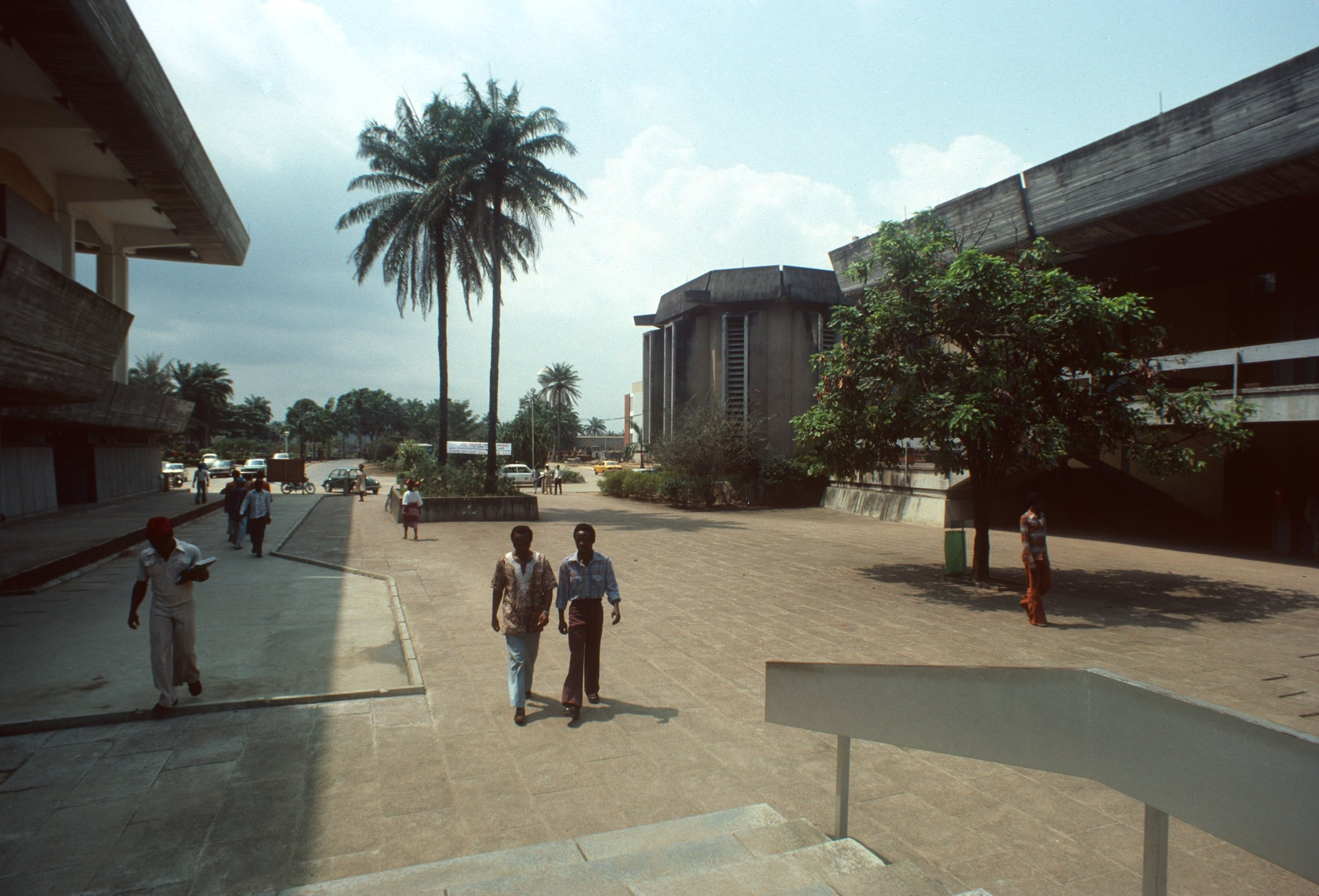 On the campus of the University of Lagos.