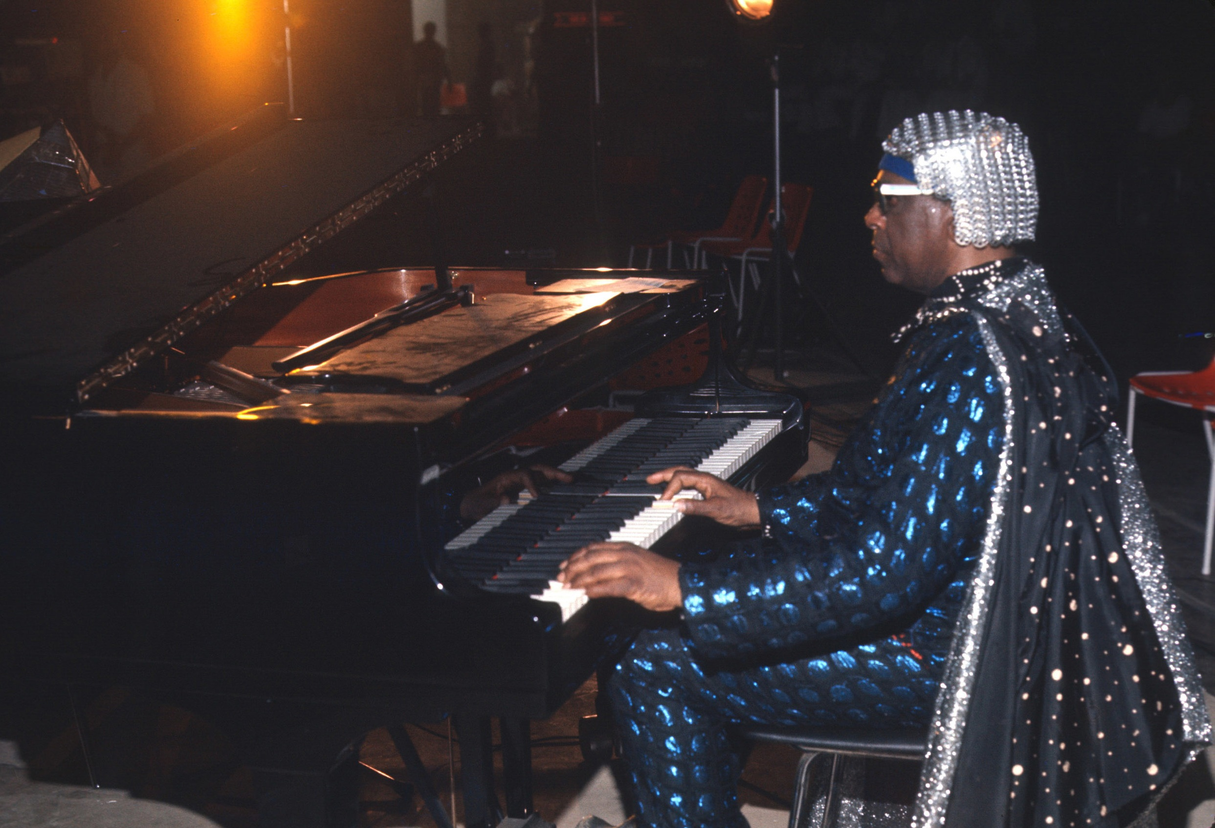 Jazz pianist and Big Band leader Sun Ra.
