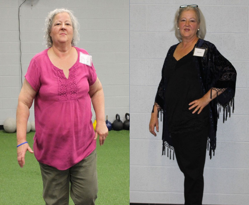 """Thanks to New Beginnings, I have lost a total of 53 lbs (25% of my body weight) and my doctor has taken me off all my diabetic medications, one blood pressure medication and reduced my cholesterol medication to half a dose."""