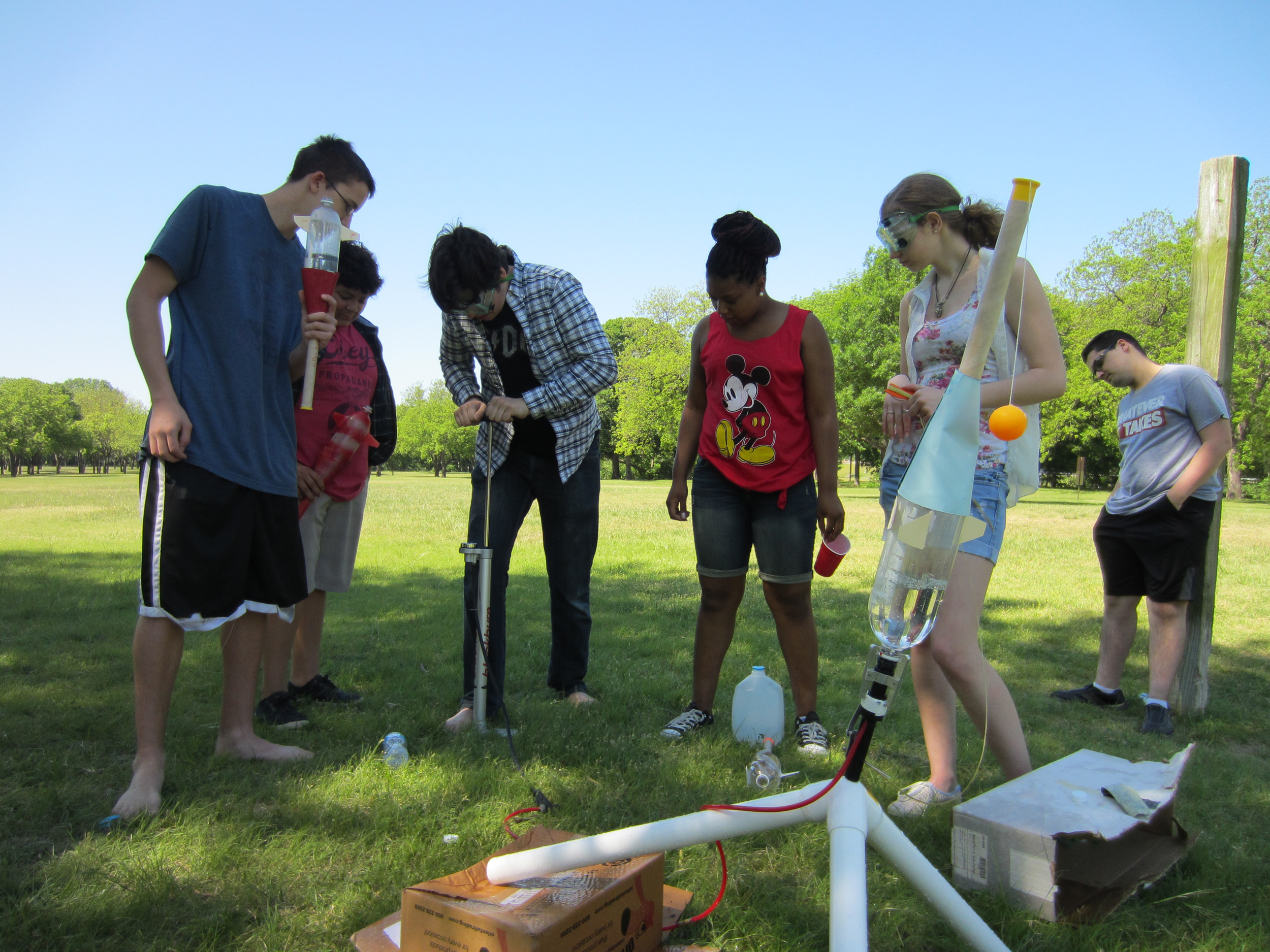 """our annual """"water rockets in the park"""" field trip and picnic is always a blast :)"""