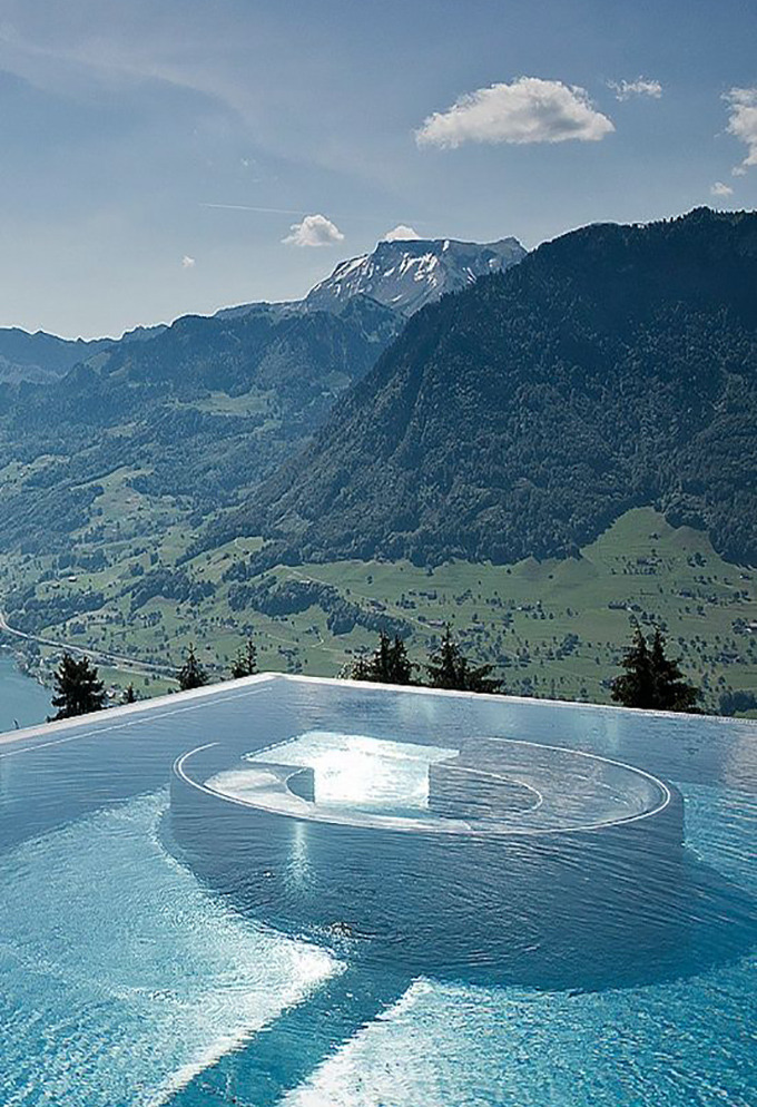 cabbagerose :     hotel villa pool, honegg, switzerland   via:  thecoolhunter