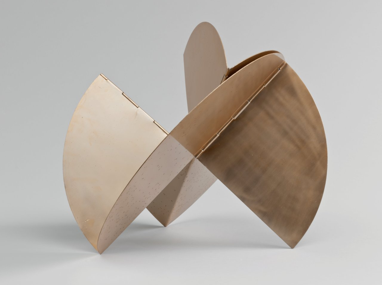 moma :       Lygia Clark, born today in 1920, made sculptures like  this one , which can be endlessly manipulated by viewers.  [Lygia Clark.  Sundial . 1960]