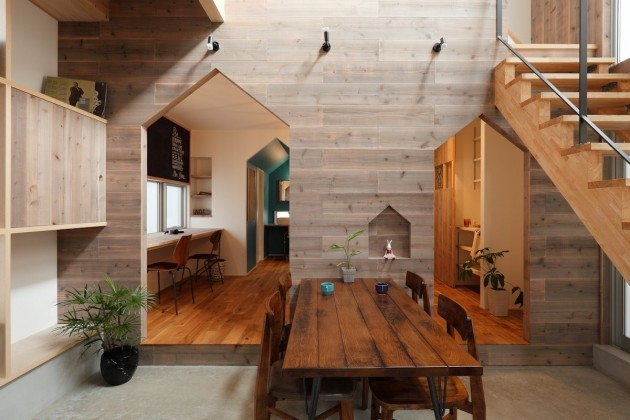contemporist :     See more photos here > Hazukashi House by Alts Design Office    Source: Contemporist.com