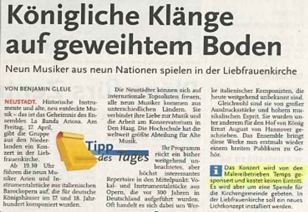 Neustädter Zeitung, 15. April 2015