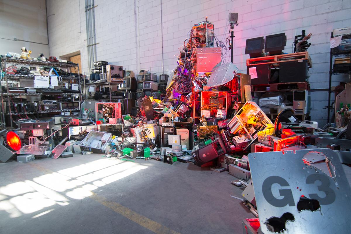 2015-02-20 DIGITAL BEING - FAN Being at GOWANUS E-WASTE WAREHOUSE-3.JPG