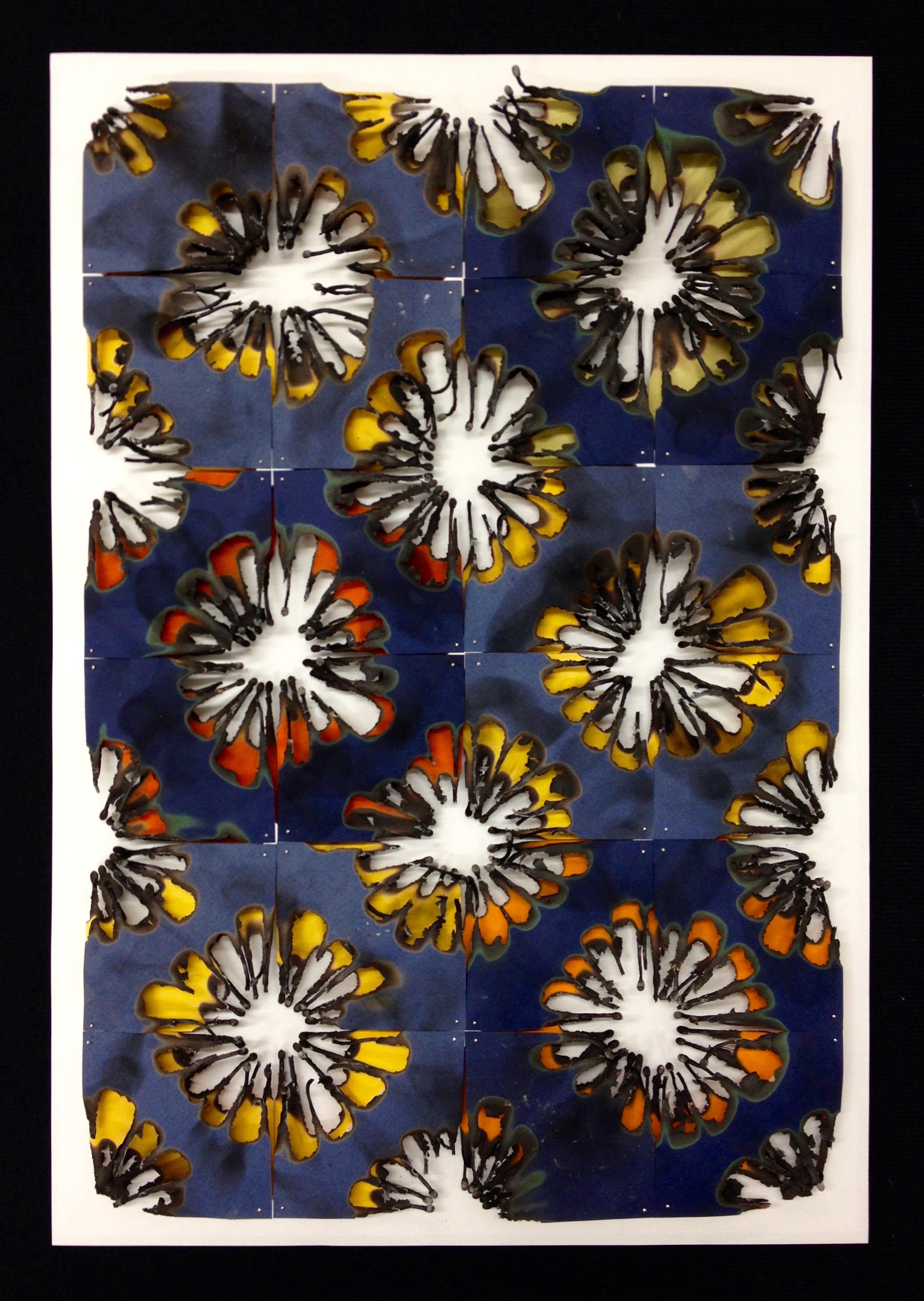 Burn Quilt (Blue/Orange/Anis II)