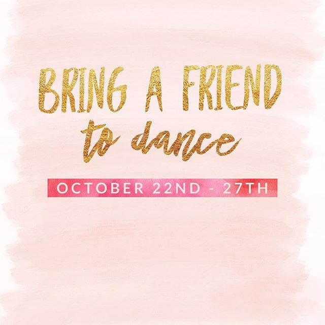It's almost that time of the year again! Bring a friend to dance is a great opportunity for all of our dancers to share their dance experience with a friend.