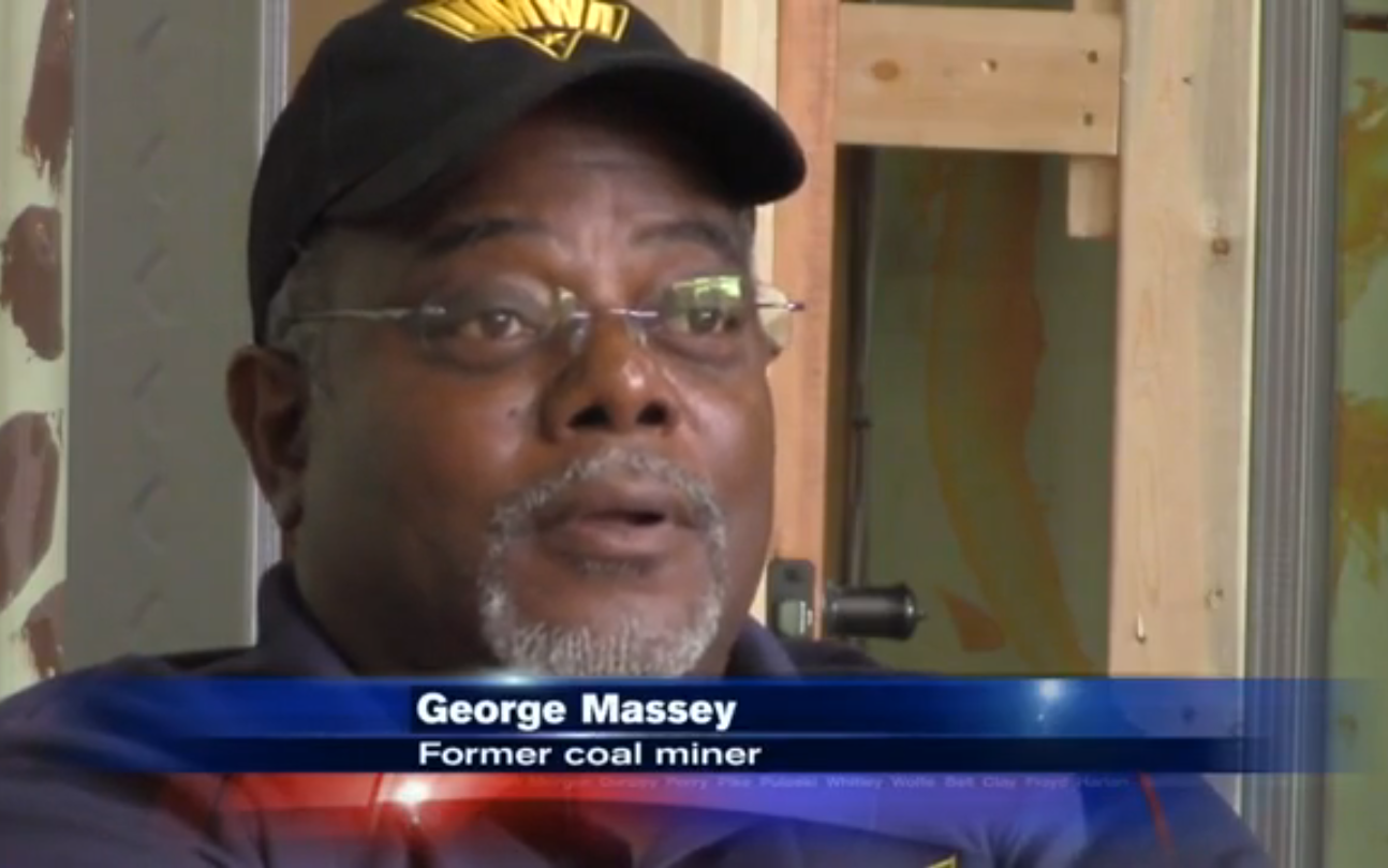 George Massey, retired UMWA coal miner and resident of Harlan County, KY. Image & quote:  WYMT News