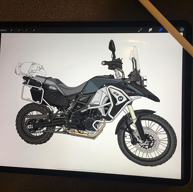 This new iPad is gonna be a real problem.....time flies by lol Ad design in the works for my bike #f800gsadventure  #f800gs #f800gsa  #ipadpro2018 @apple @bmwgsfans @bmwmotorradusa @bmwmotorsport @bmwusa