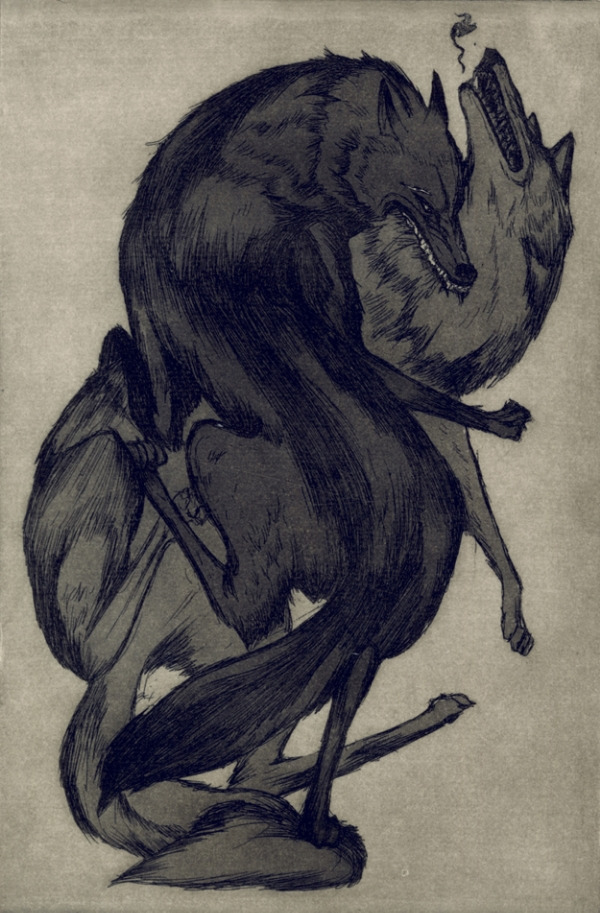 """""""The Villains"""" (You are the hero of your own story, and the villain of another's) - Etching"""