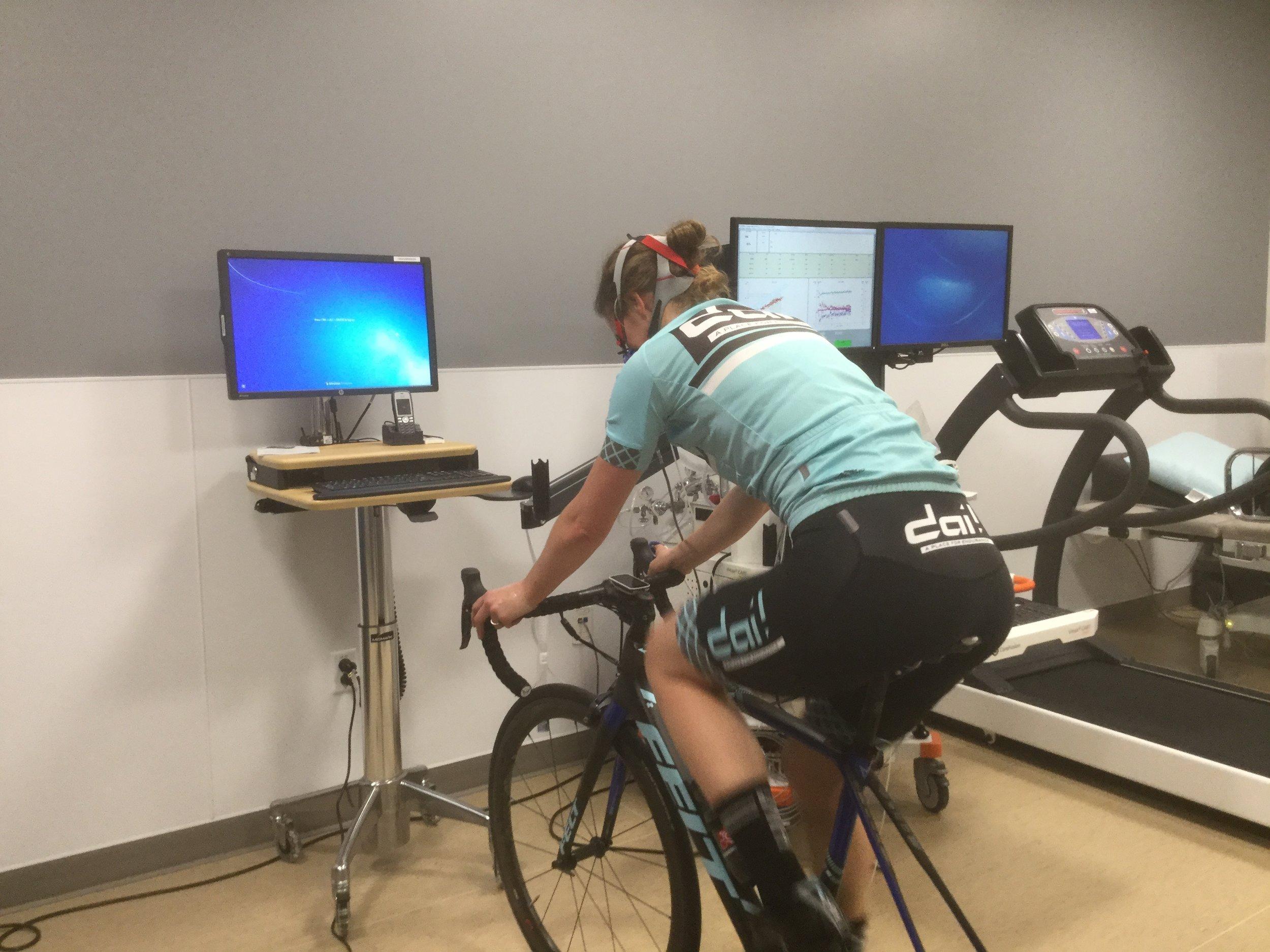 Testing with Julie of Dai Endurance at the Kaiser Endurance Lab in Sacramento