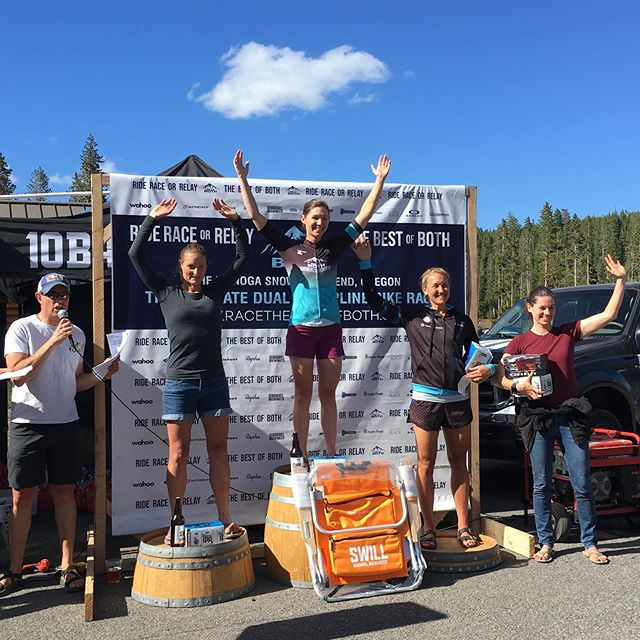 My first trip to Bend this weekend was a quick one, but as the race suggested I saw the best that Bend has to offer! 62miles of road racing and 23 miles of MTB provided a unique take on a multi-discipline event that I'd highly recommend checking out. Oh, and I had a good day and nabbed 2nd in the open women's solo category (@braveheartcoaching_official). Thanks @racethebestofboth for creating such a unique and challenging race experience, and to Yi (@rosevillecyclery ) for expert race support and road trip company! @btnutrition kept me hydrated for an intense 5hours on two wheels and @pacostruckee and @maxxisbike kept those wheels rolling smoothly. Until next time Bend, I'll be back!