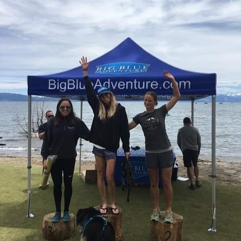 2nd for me today at Xterra Tahoe City. @jessie_ko and I put in valiant attempts to chase @jennilynntodd today but wow can she ride! Love having such competitive fields to race in right on the doorstep, and this course never fails to bring the fun, challenge and beauty of racing. Thanks @bigblueadventure for the new singletrack and giving us a shortened swim to ward off hypothermia!
