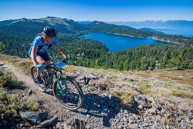 #TBT to a couple of weekends ago where I decided I was recovered enough from Leadville to race at Xterra Lake Tahoe. It's hard to pass up this race when it's right on the doorstep - one of the very best (and toughest!) courses around; thanks @bigblueadventure for putting on this show for us every year! I swam biked and ran to second behind @karalapoint who came home to race, and @kimrlarson took third for a sweep of the podium by the locals. Next up it's @xterraplanet PanAm Champs in Ogden, Utah then the final stretch to Worlds in Maui. Big thanks to @pacostruckee for keeping my bike running in race shape week after week (it's almost the end of the season guys 😉 ). Photos by @lefrakphotography and @teagueam. #laketahoe #viewsfordays #livemore