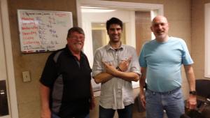 Larry, Jarett, and Jeff in studio.