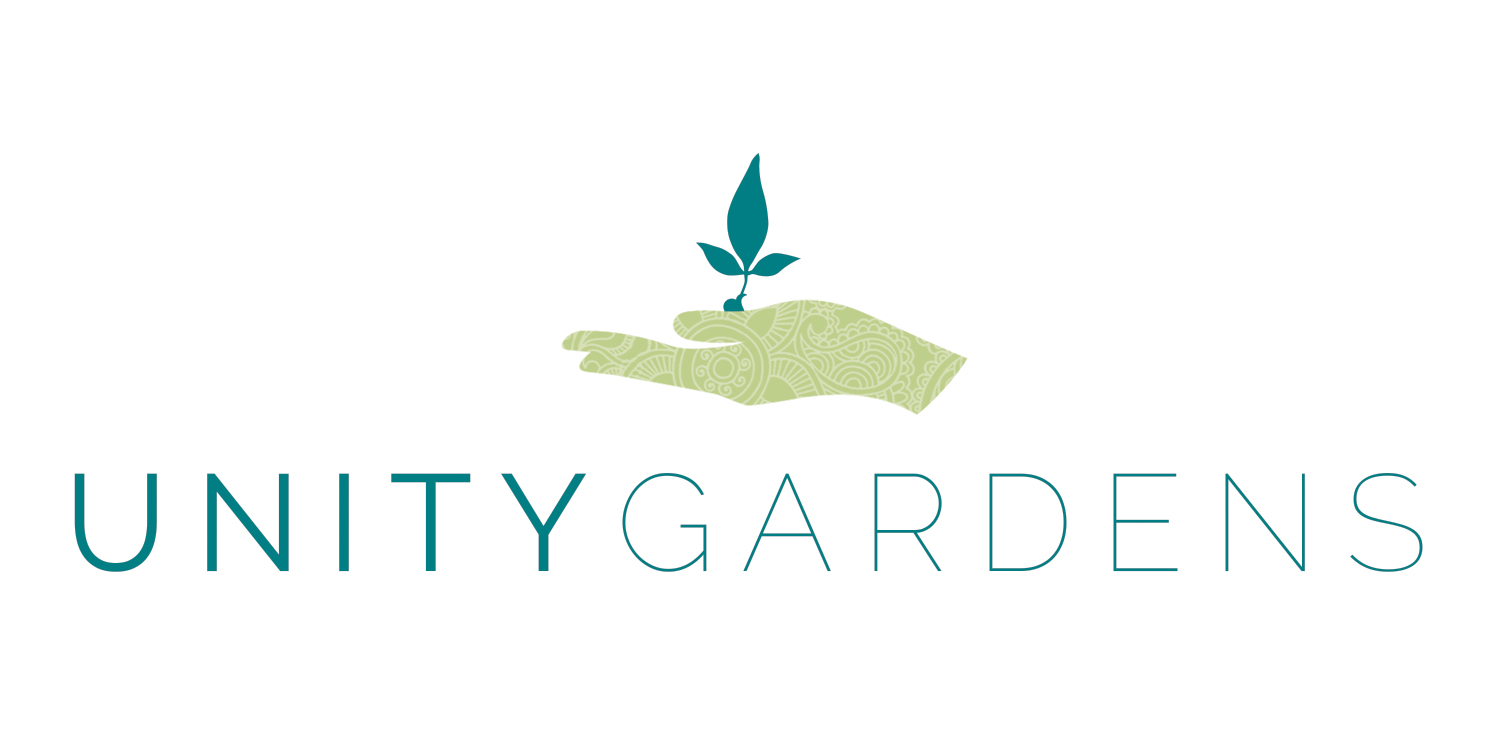 Logo design for the Unity Gardens.  Each plot will have a placard with logo, sponsors, and info on the project.  Design by the Wild Collective.