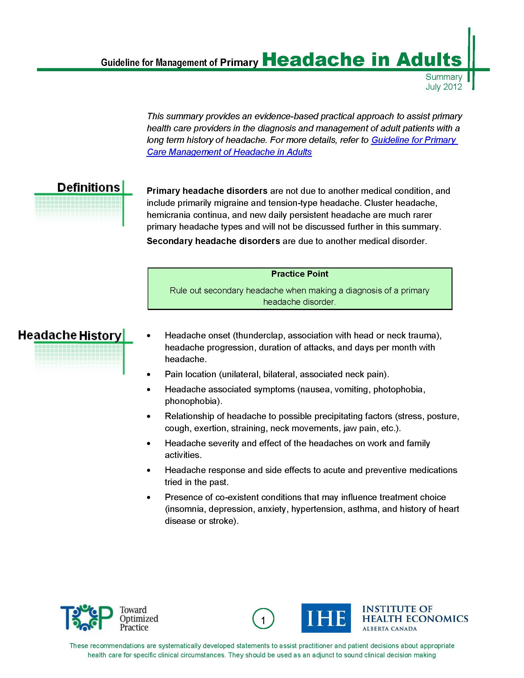 Summary Guideline for Management of Primary Headache in Adults_Page_1.jpg