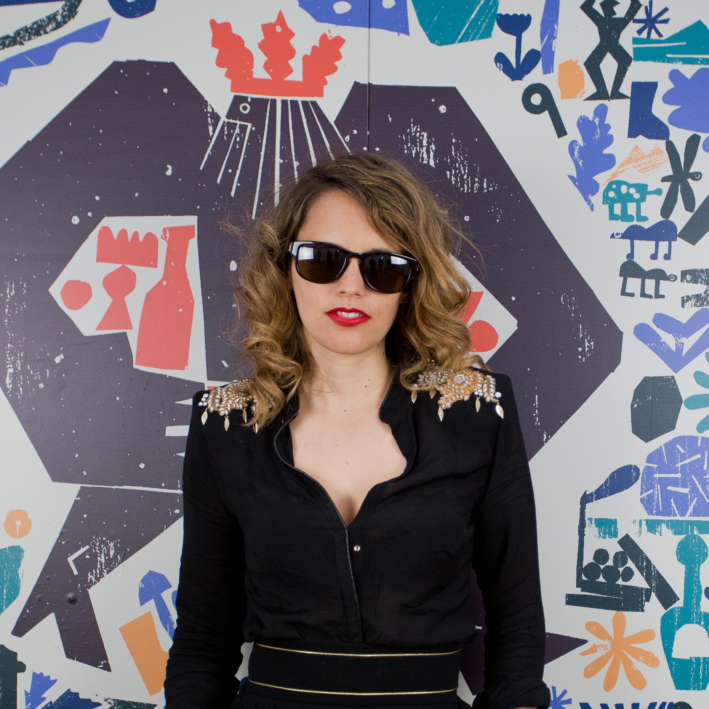 Anna Calvi backstage at Green Man Festival