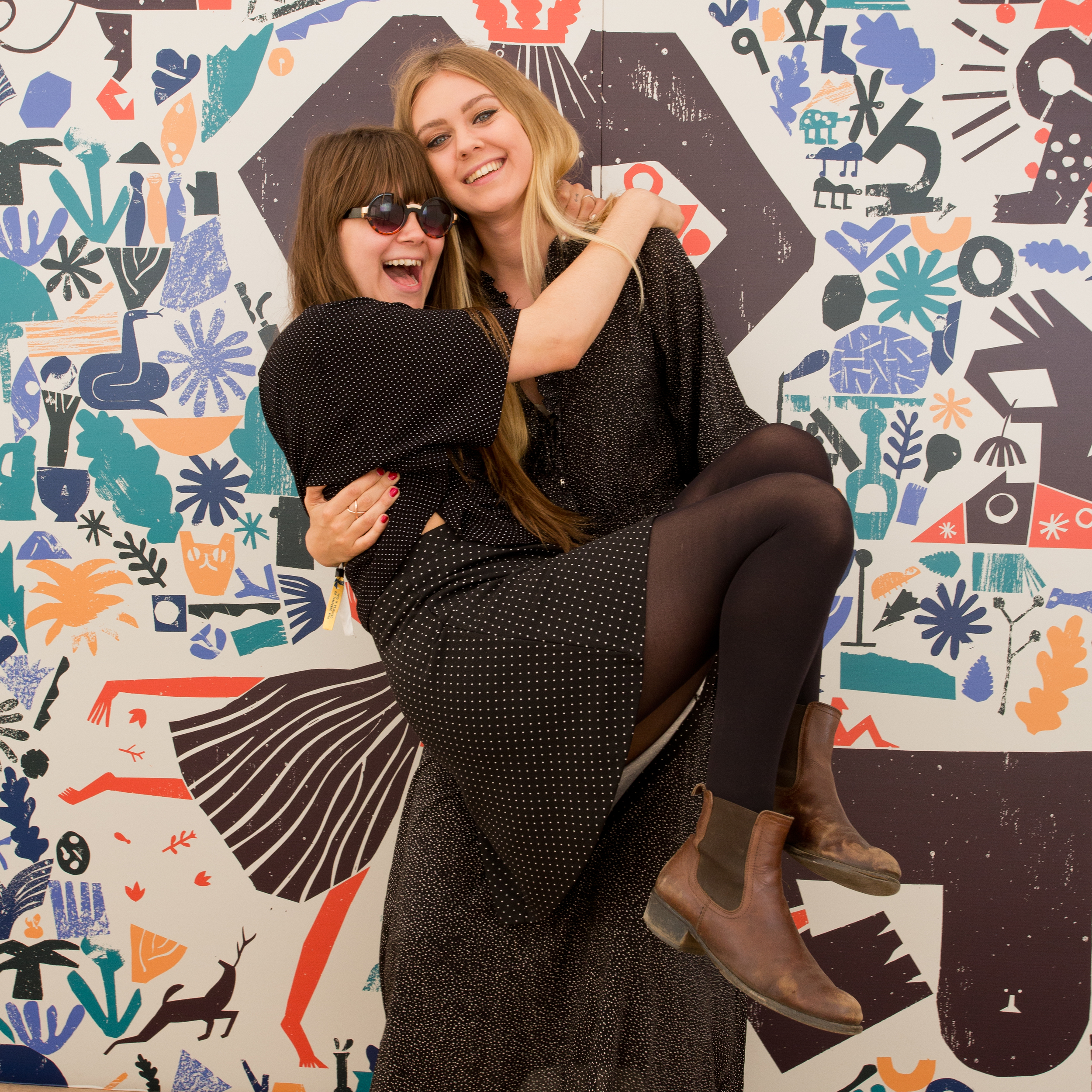 First Aid Kit backstage at Green Man Festival
