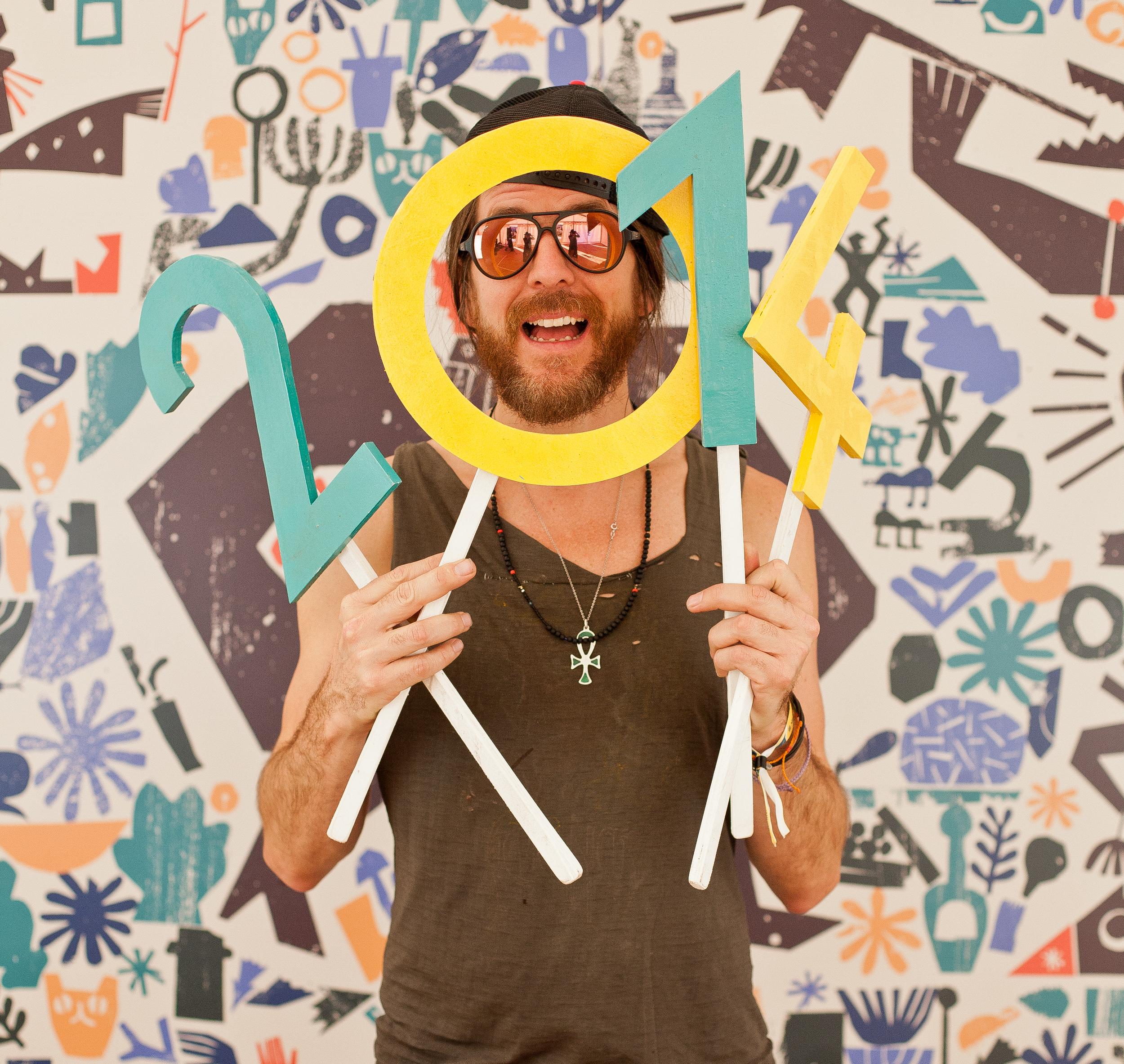 Jonathan Wilson backstage at Green Man Festival 2014