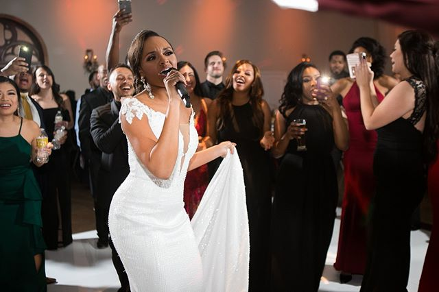 Our gorgeous bride, Adrianna Nelson Jackson, is singing us into the weekend.  Go Girl!!!!⁠ ⁠ Custom Wedding Gown⁠ Venue @villastclair⁠ Photographer @dustinfikelsteinphotography⁠ Floral & Decor @villastclair⁠ .⁠ .⁠ .⁠ #bride #happy #happiness #unforgettable #love #forever #beautyqueen #beautyqueenbride #weddingdress #family #smile #gogirl #bridalseranade #bridalperformance #singit #together  #weddingday #weddingplanner #weddingvenue #AustinWedding #TexasWedding #austin #atx #512 #texas #customweddinggown #coutureweddinggown⁠ #austinweddingvenue #austinweddingplanner #austinweddingflorist