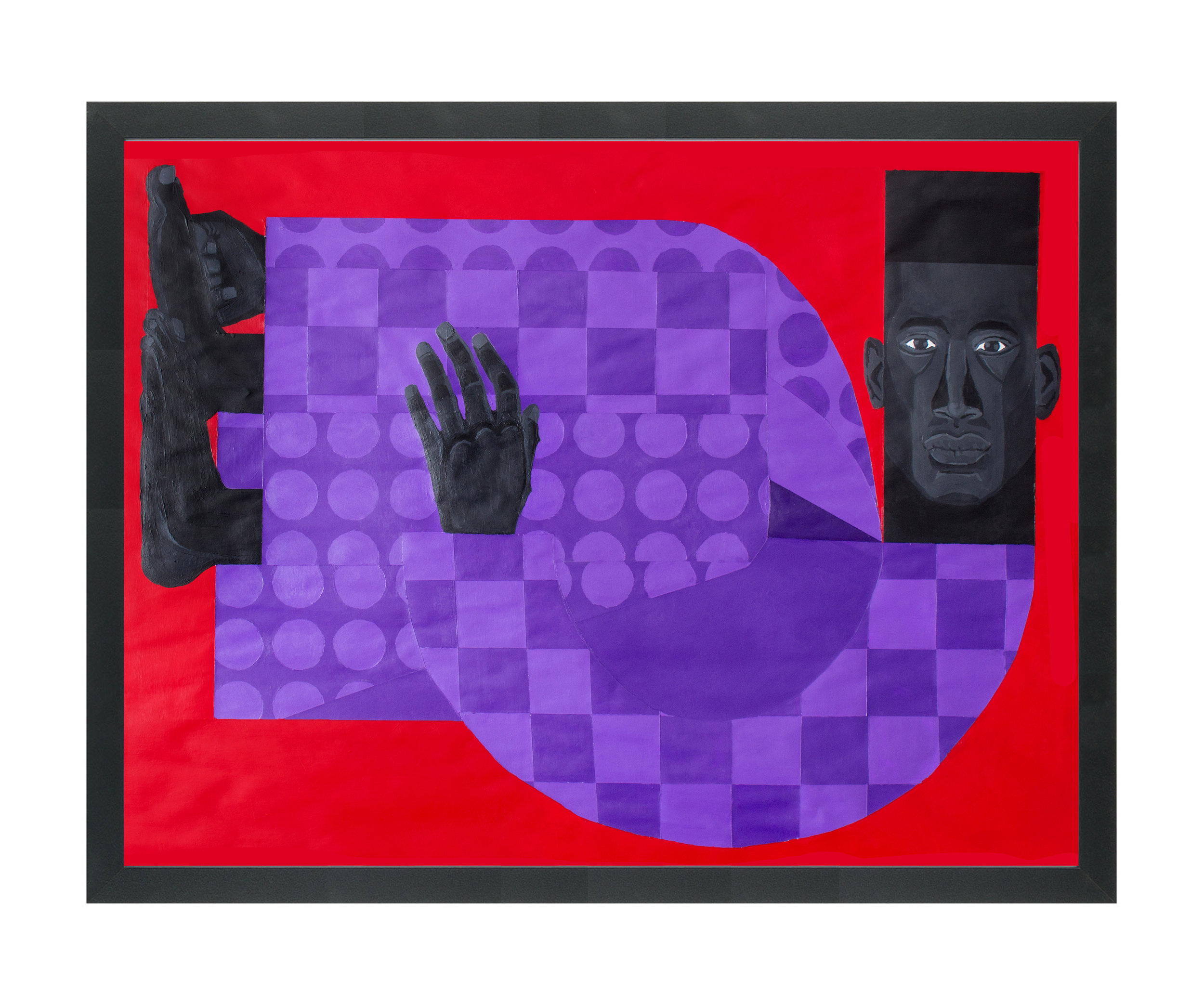 """Man in the Violet Suit No. 3 (Red)"" by Jon Key"