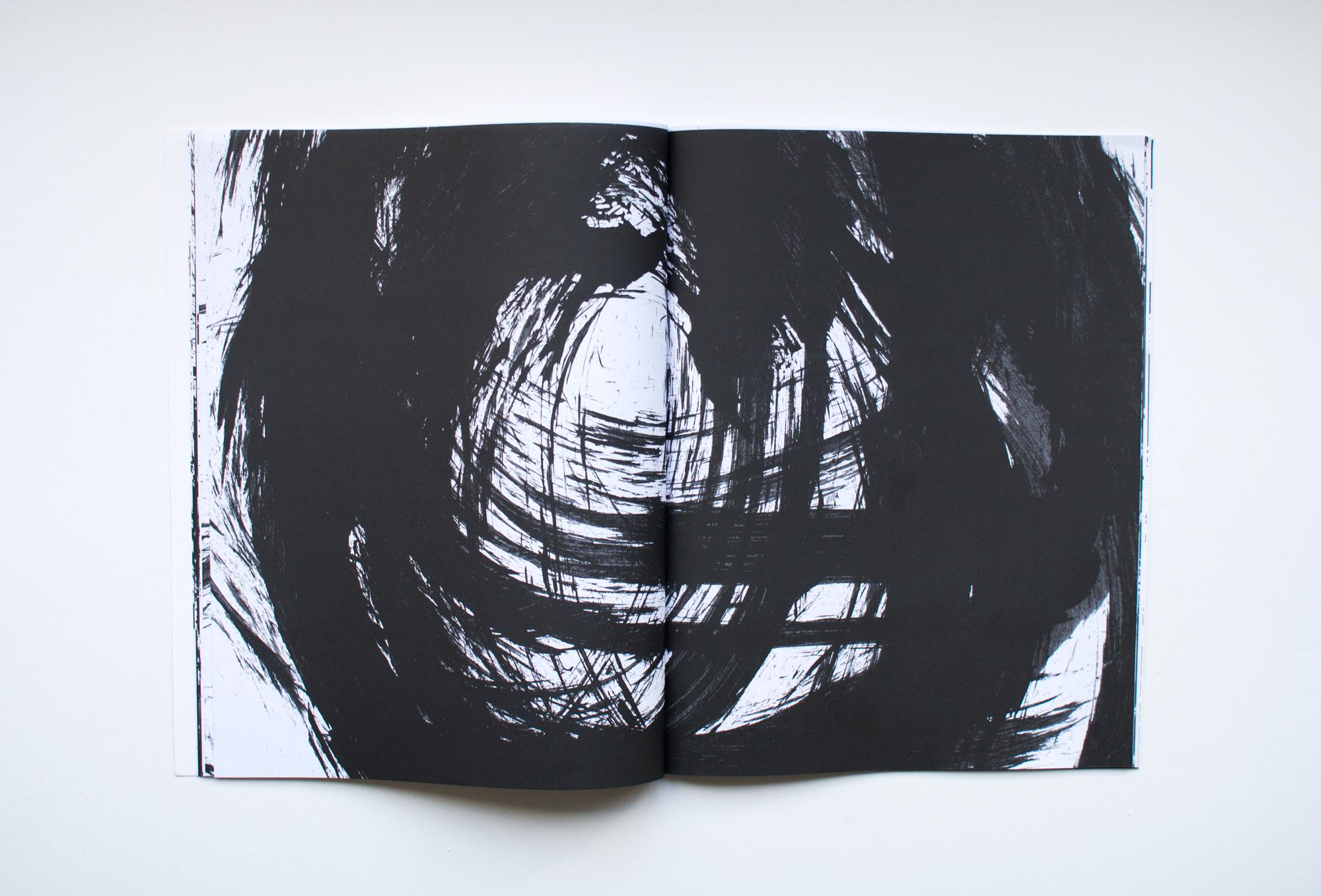 "Title: Judges 16:18 Artist: Jarrett Key Year: 2018 Medium: Perfect bound book Dimensions: 11"" x 8.5"" Price: $80, edition of 50"