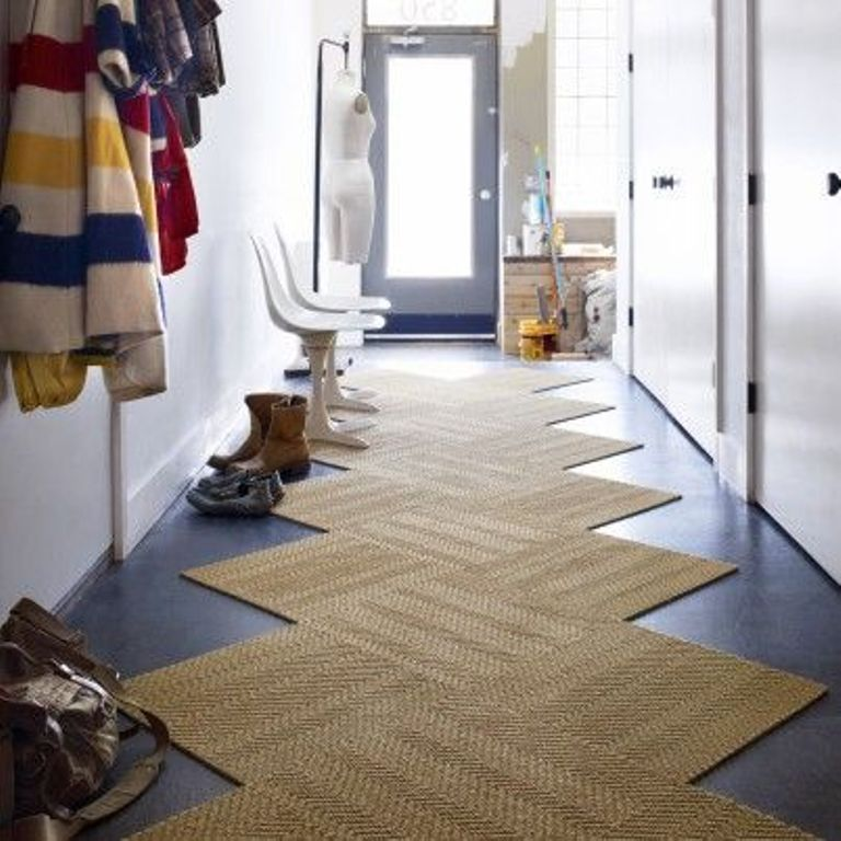 A fun example of using Flor Carpet Tiles as a custom runner.