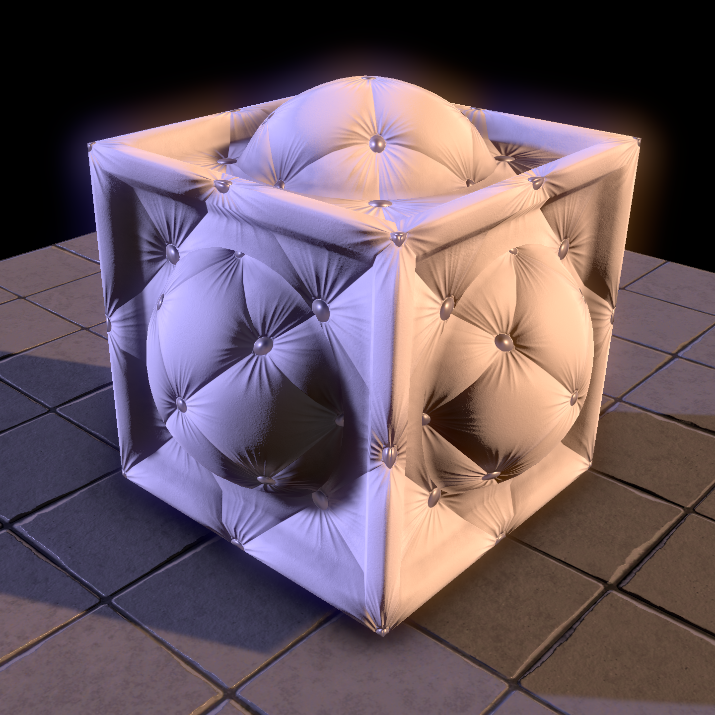 White Albedo //50% Smoothness // Normal Map // Metalness Map   //   CLICK FOR FULL SIZE