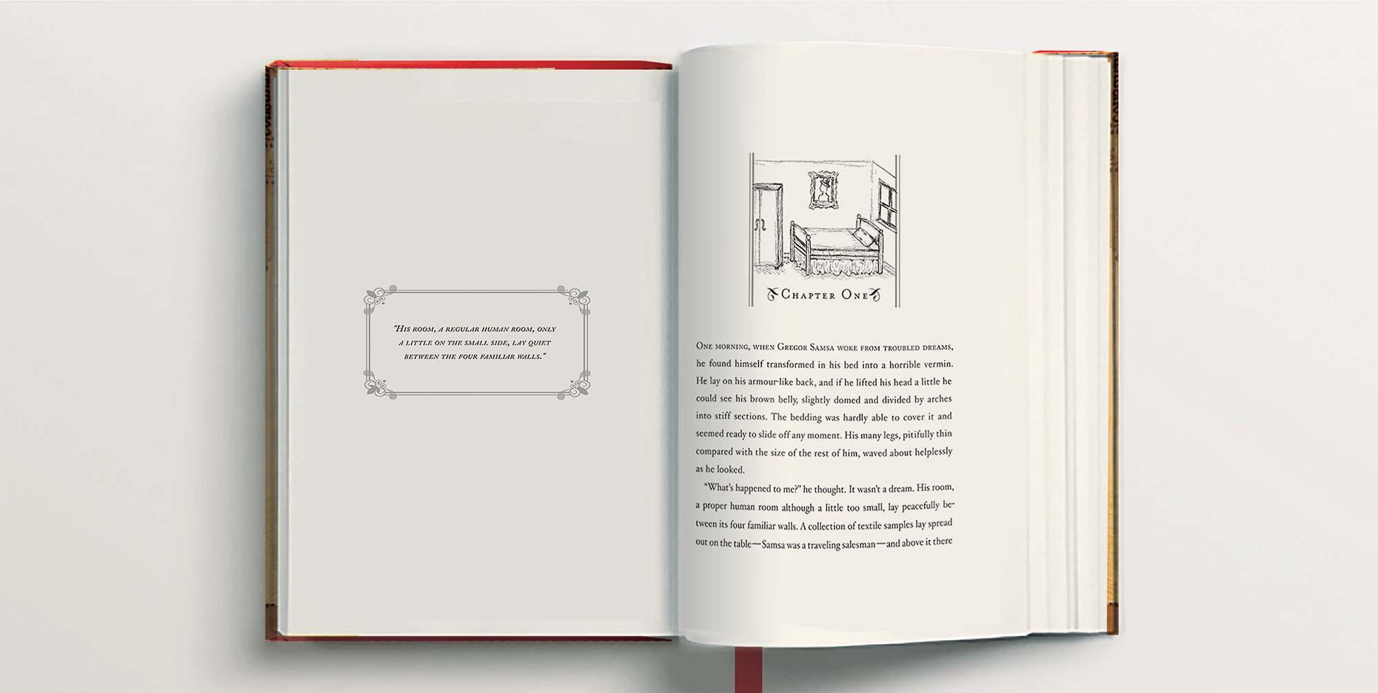 The Metamorphosis book full spread