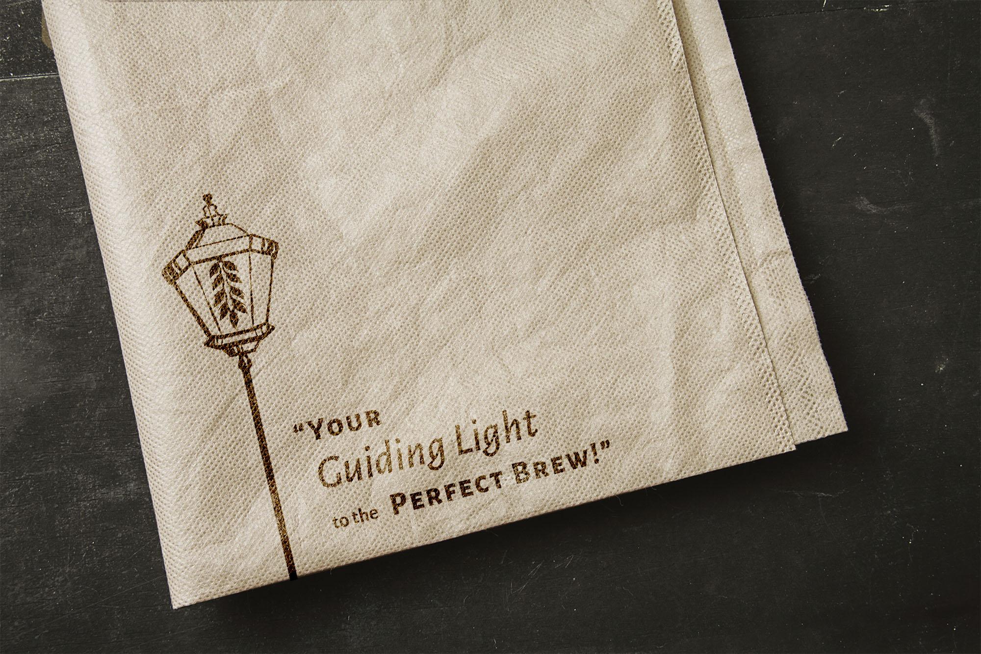 PorchLight Brewing Co. Napkin