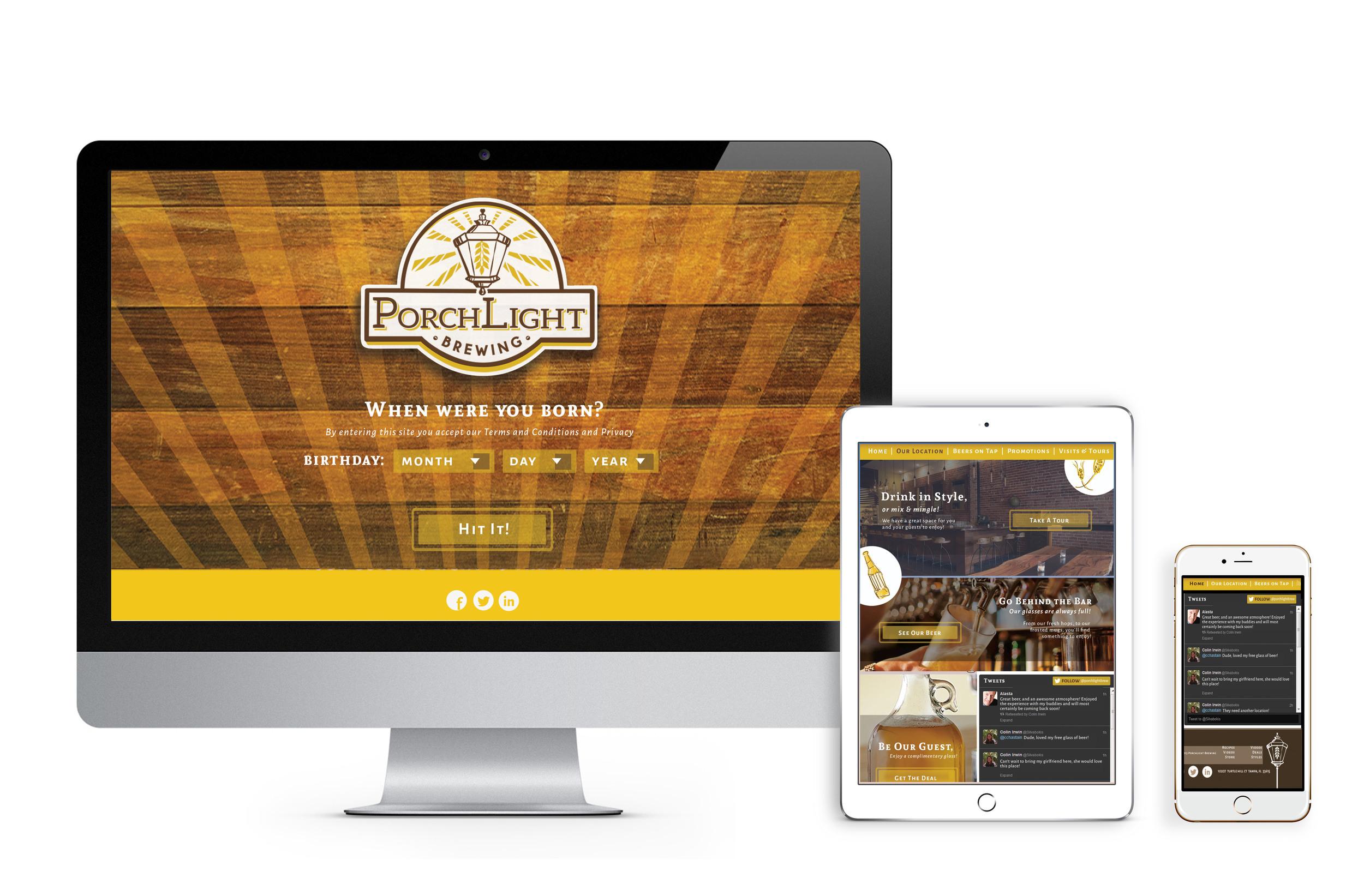 Website Design for PorchLight Brewing Co.