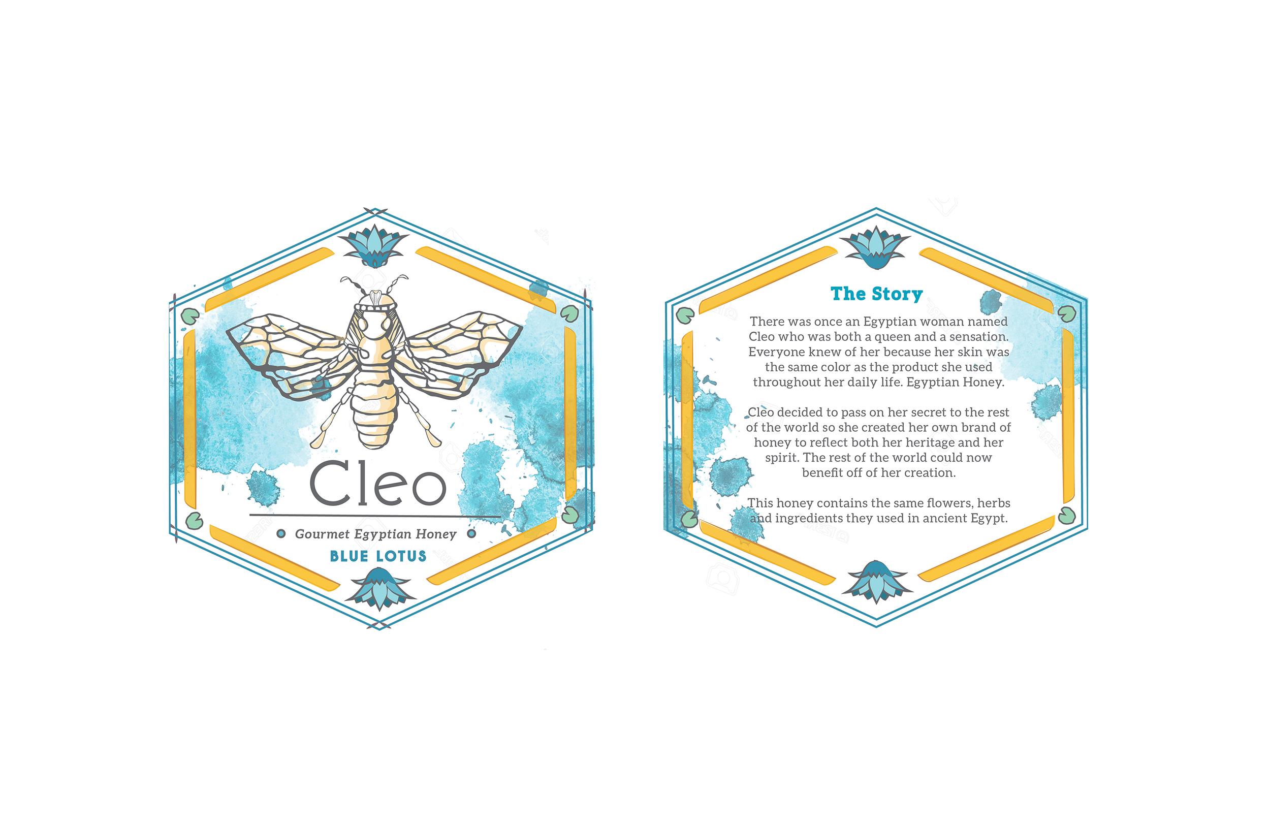 Label #2 for Cleo Honey