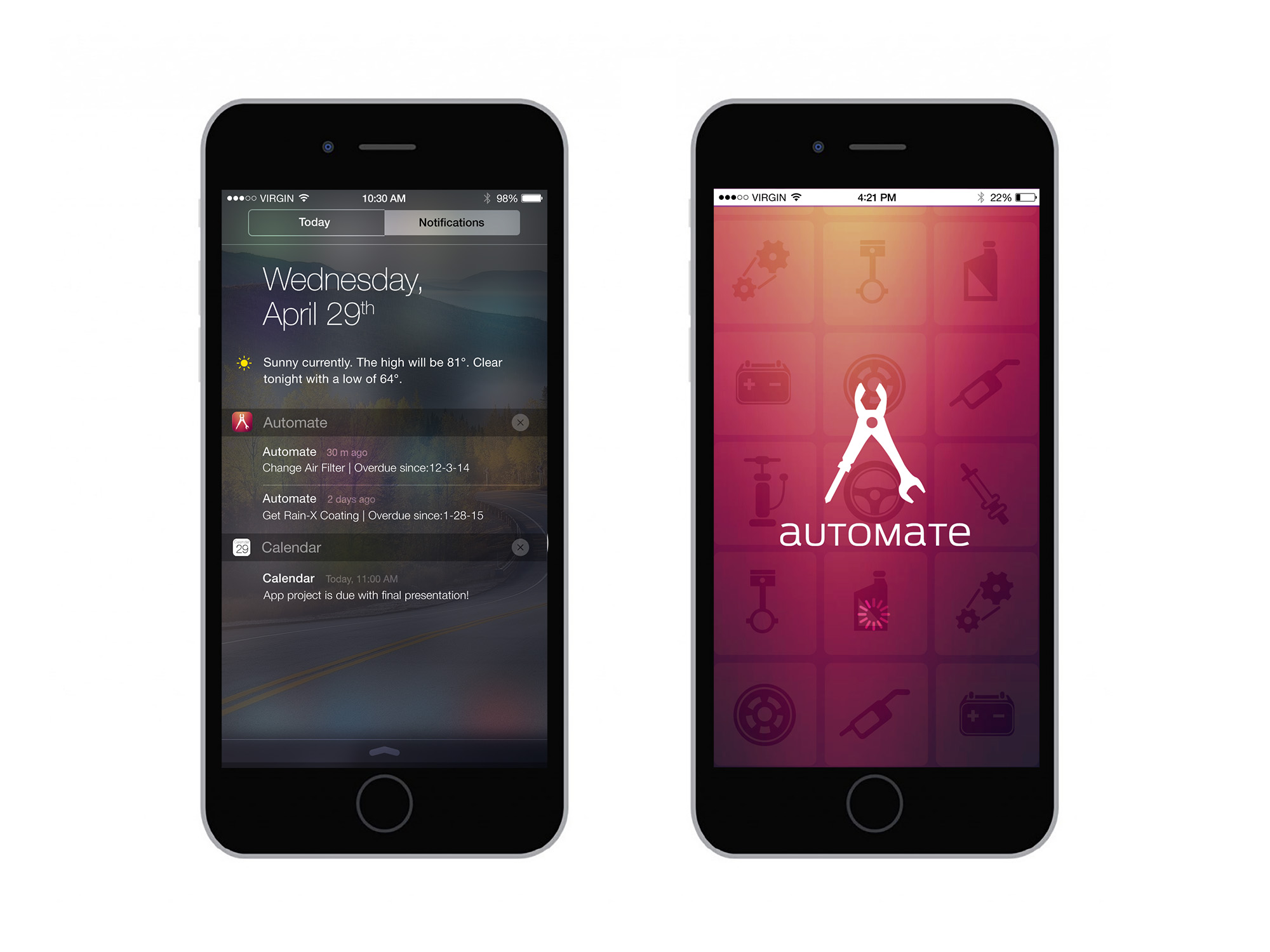 App design for automate by Caroline Staniski