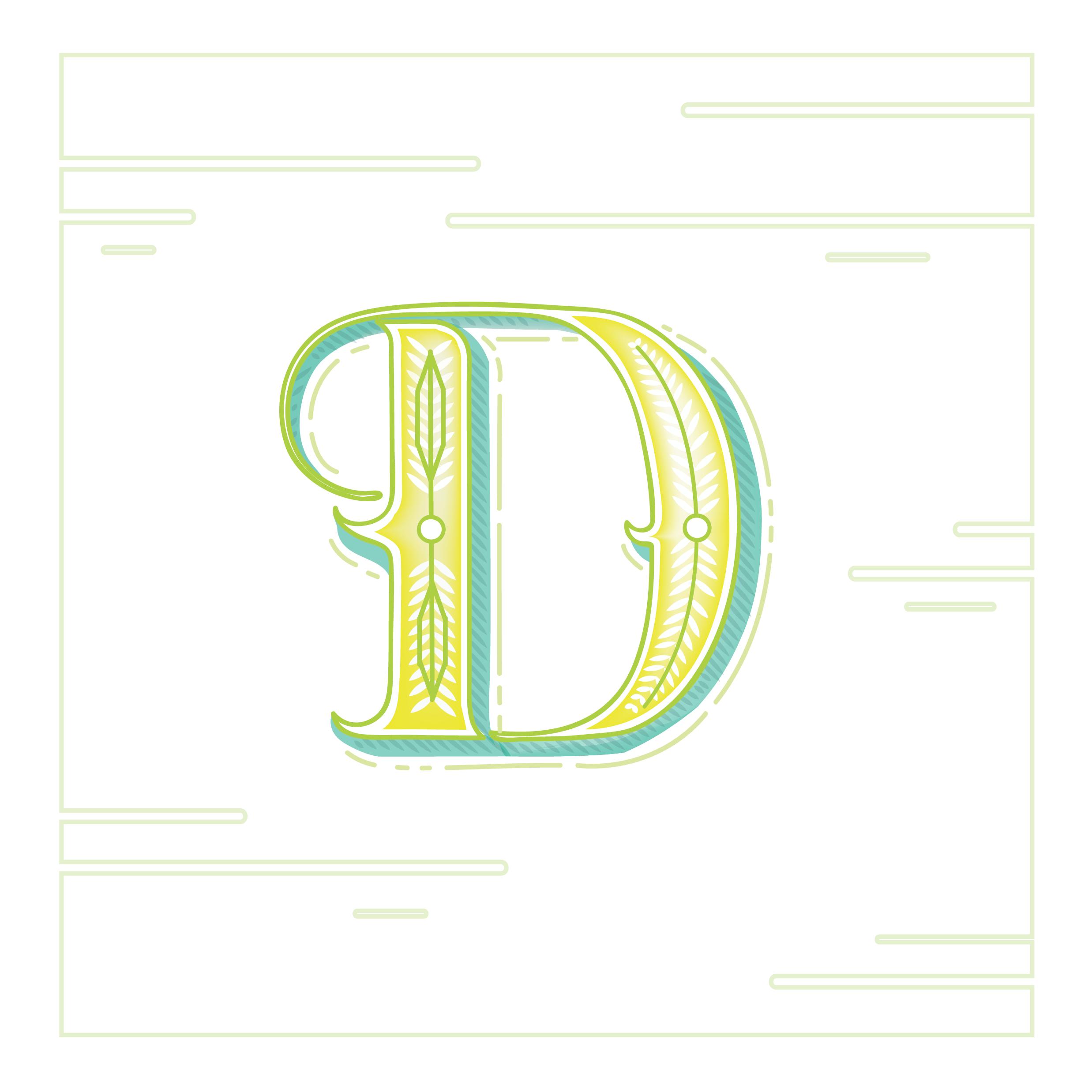 Letter D Design