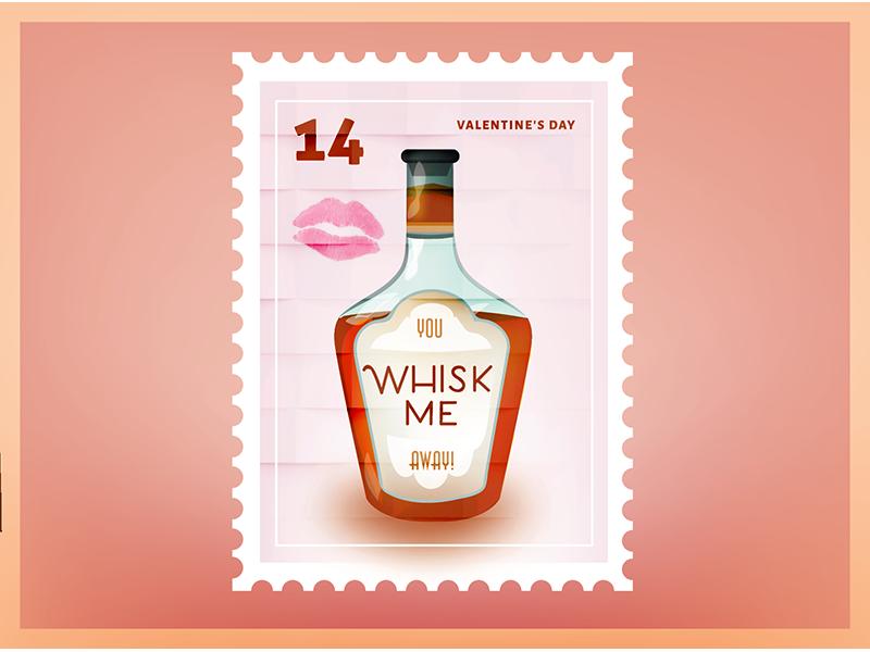 Whisk Me Valentine Stamp