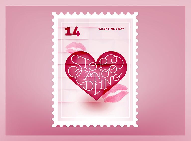 Stop Canoodling Valentine Stamp