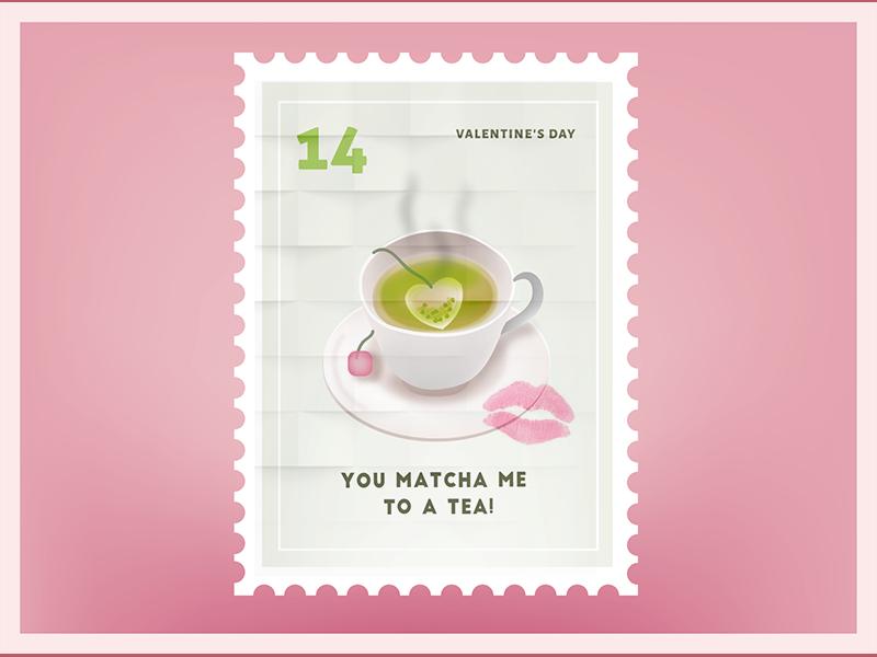 You Match Me To a Tea Valentine Sticker