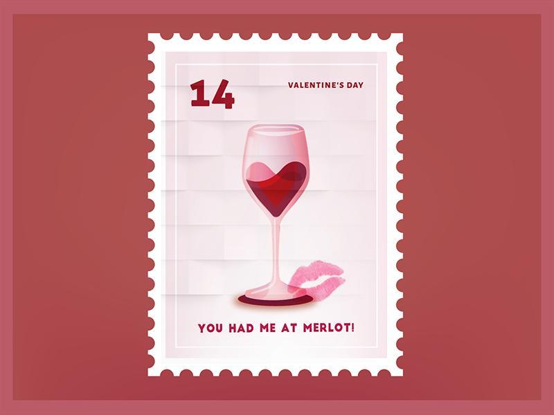 You had me at Merlot Valentine Sticker