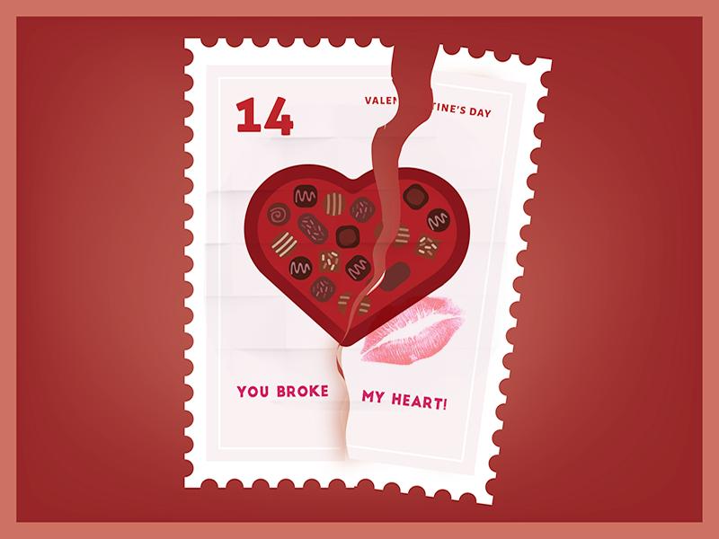 You broke my heart Your Just my type Valentine Sticker
