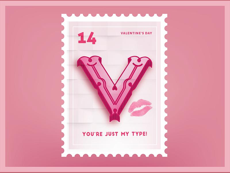 Your Just my type Valentine Sticker