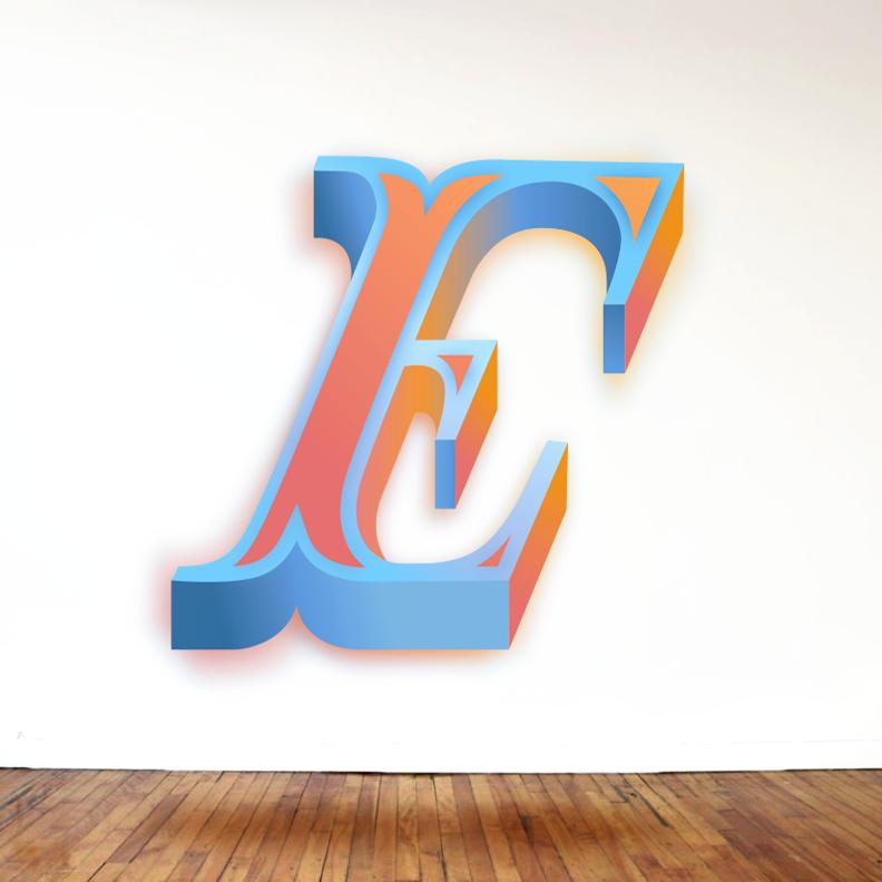 Letter E Design #3