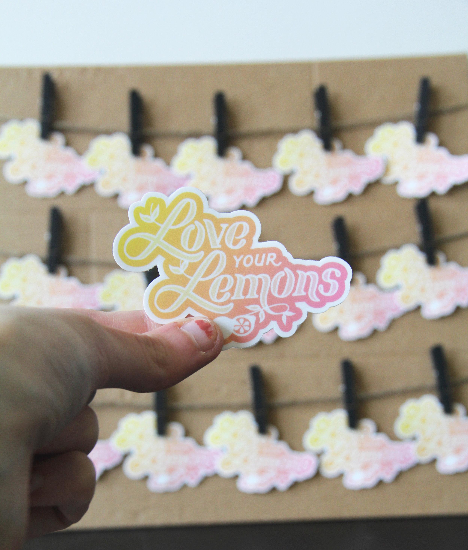 Love Your Lemons Sticker