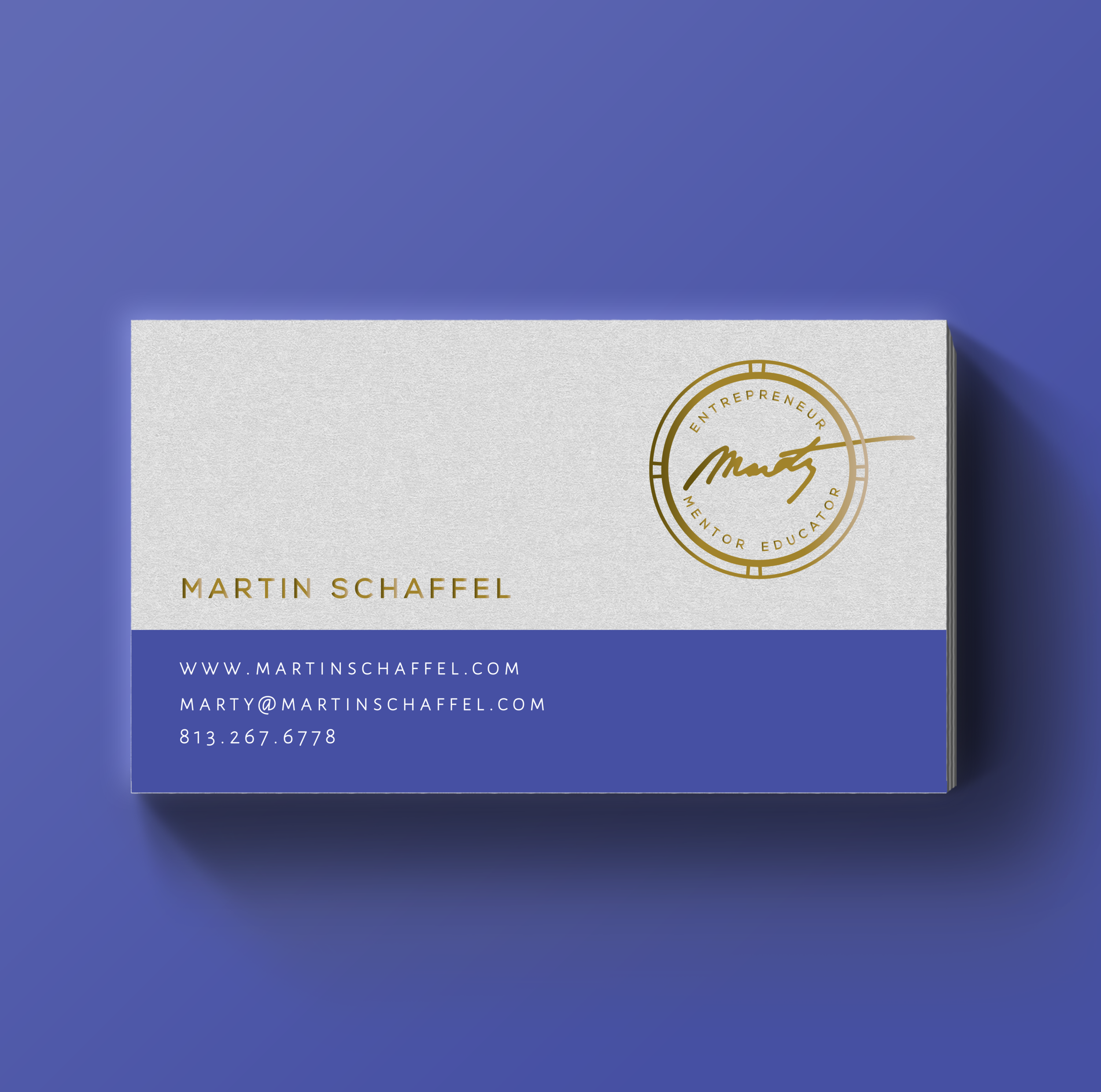 Business Card Design - Moo Gold Foil